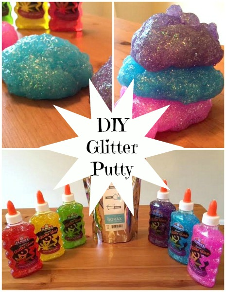Glitter Putty Collage