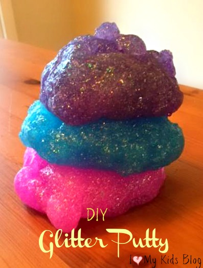how to make a diy glitter putty