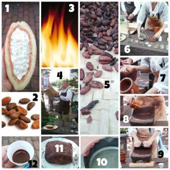 American Heritage Chocolate Making collage