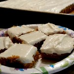 Homemade Pumpkin Spice Bars with Cream Cheese Frosting