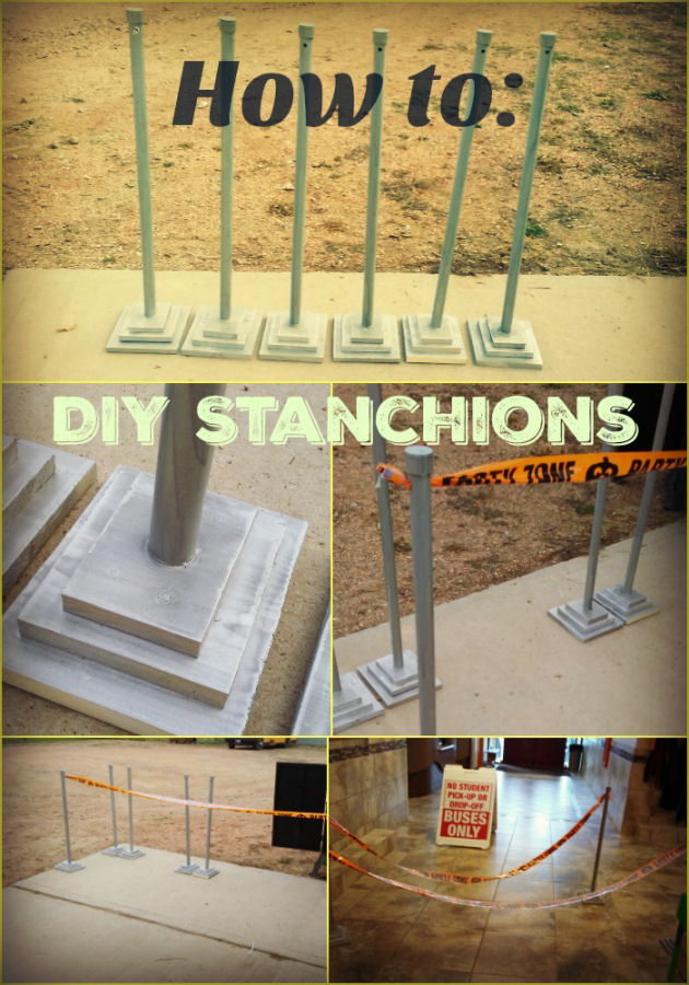 How To Decorate A Long Living Room With Windows: How To Make DIY Stanchions