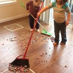 Pom Pom Hockey, an Indoor Activity Perfect for a Rainy Day [Activity Sticks Activity]