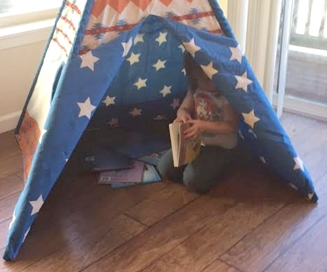 Reading in the Teepee