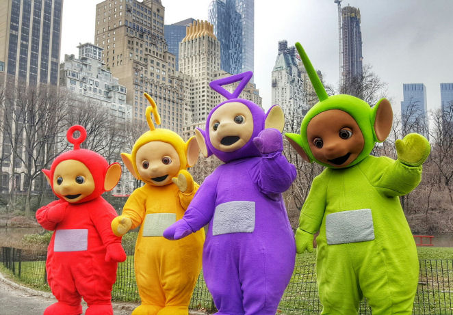Teletubbies in Central Park, NYC