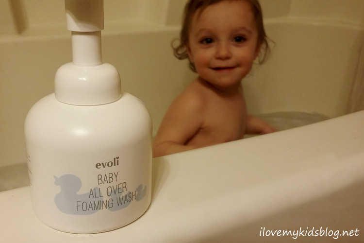 evoli baby all over foaming wash is perfect for your littleones and leaves the skin feeling smooth
