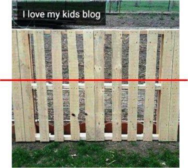 wood pallet bike rack cut