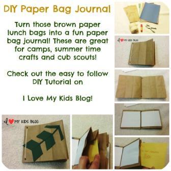 DIY Paper Bag Journal Craft Tutorial