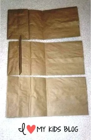 Paper bag craft journal fold the bags to make flat