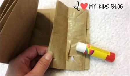 Paper bag craft journal glue together
