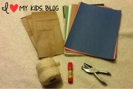 Paper bag craft journal