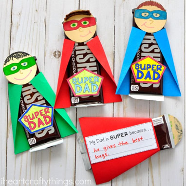 Candy bar wraps for Superhero ideas