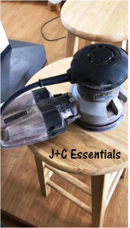 redo your table with radial sander