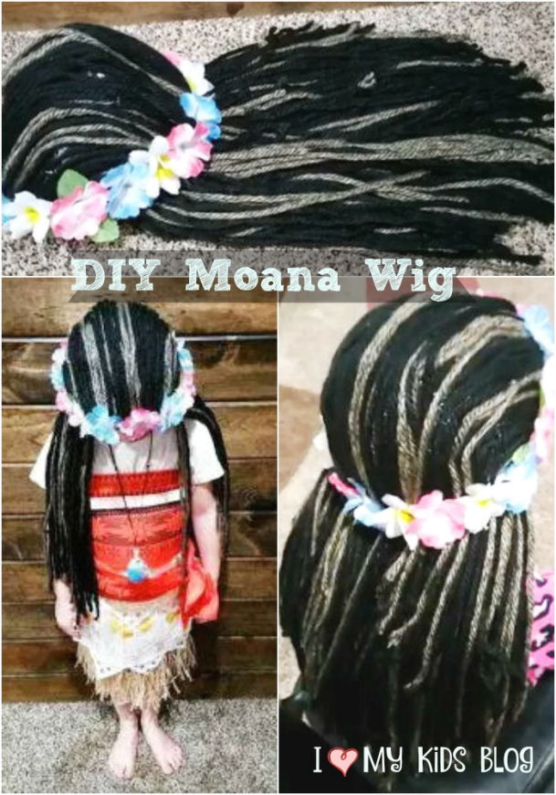 DIY Moana Wig Tutorial