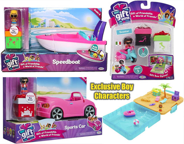 Gift'ems Toys with Exclusive Boy Toys