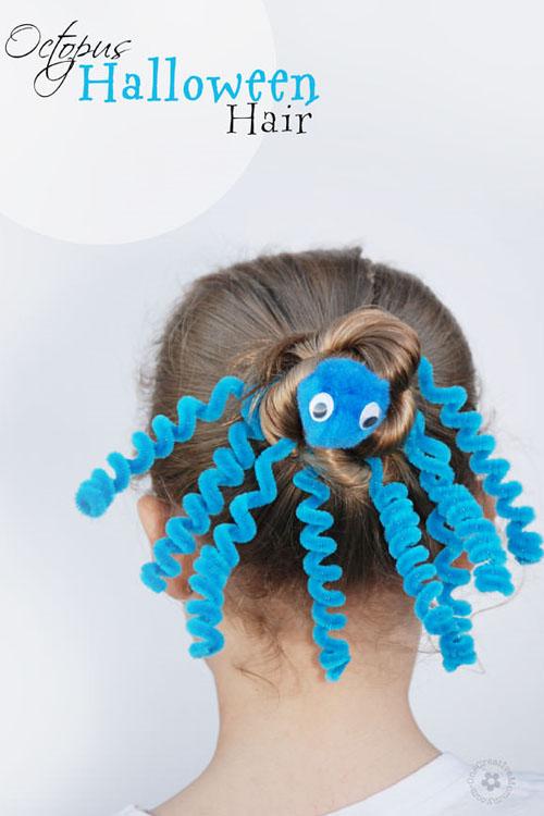 Halloween Hairstyle Octopus
