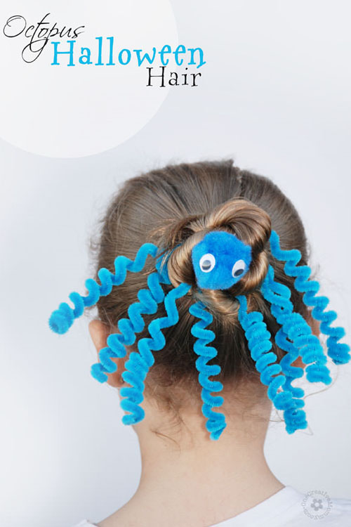 Halloween Hairstyle Octopus