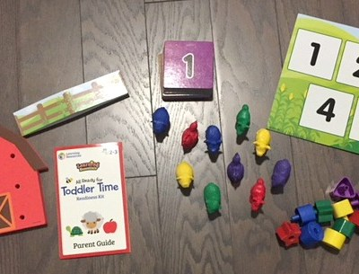The Toddler Time Readiness Kit from Learning Resources is the Fun way to Learn