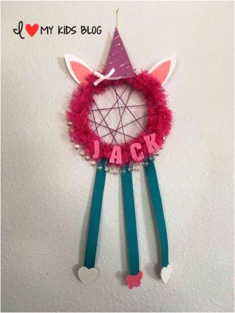 DIY Unicorn Dream Catcher Craft 12