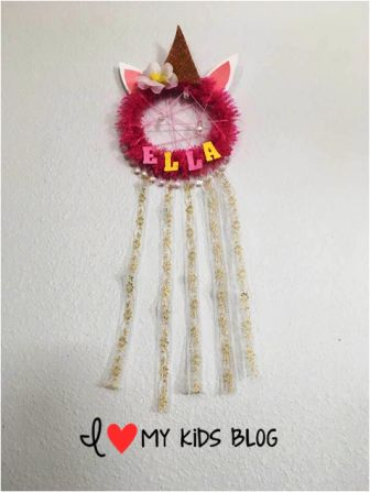 DIY Unicorn Dream Catcher Craft 9