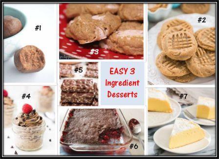 3 ingredient desserts