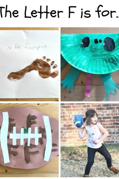 F is for Footprint, Frog, and Football: Preschool Activities for the Letter F