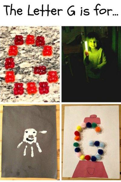 G is for Ghost, Gumball, Glow, and Gummy Bears: Preschool Activities for the Letter G