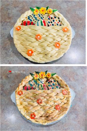 Beautiful pies easter basket pie