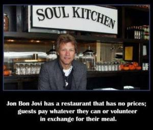 Jon Bon Jovi restaurant all about Living on a Prayer.