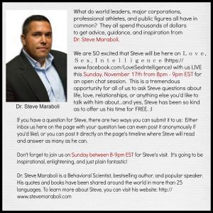 Dr. Steve Maraboli