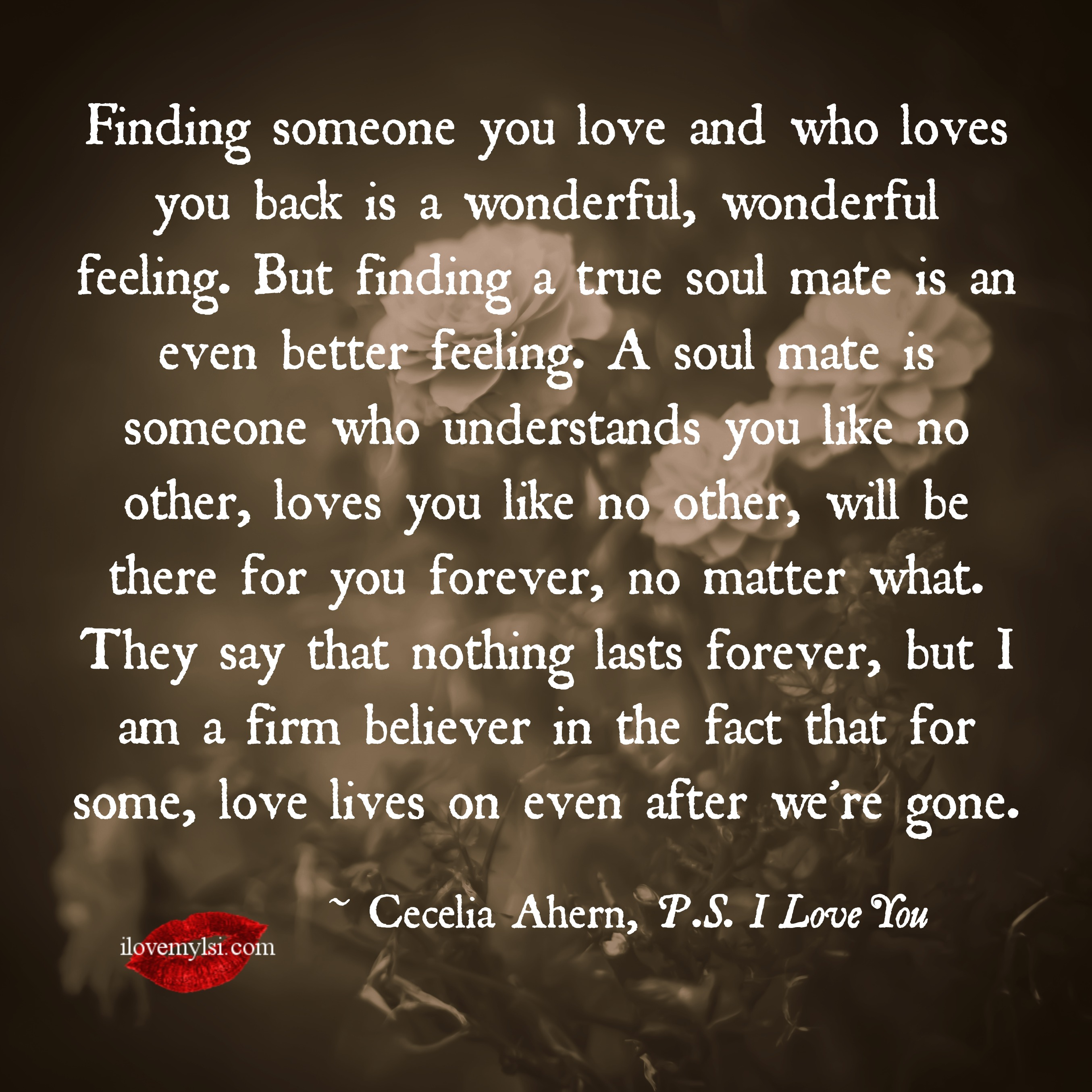 Love Finds You Quote: I Love My Soul Mate Quotes. QuotesGram