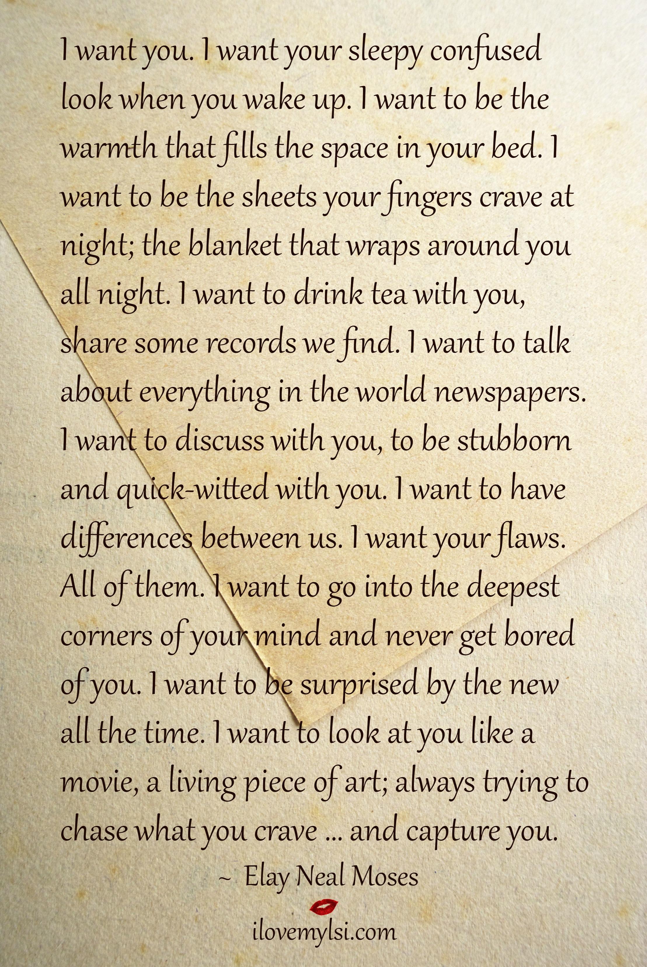 i want you   i love my lsi