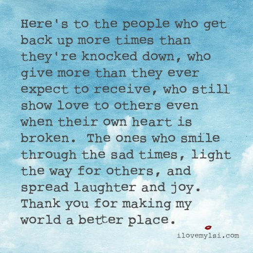 here's to the people who get back up