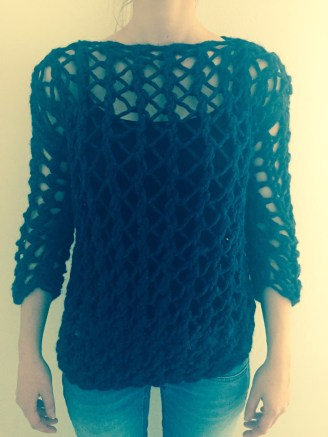 """Pull Lover"" - Peaceandwool - Couleur Blue Marine"