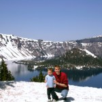 Crater Lake NP snowy edge