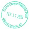 NP Stamp Grand Canyon 2016