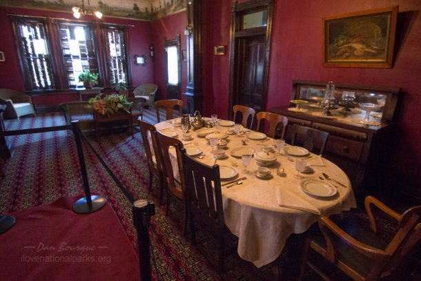 Tuskegee Institute NHS The Oaks dining room