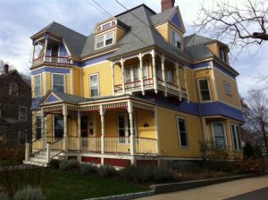 brightly colored colorful homes Newton Victorians Newton Highlands ILoveNewton.com I LOVE Newton MA