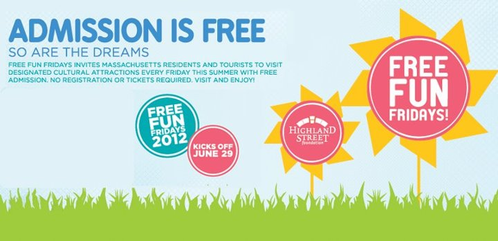 Free Fun Fridays, free musems Boston,