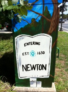 BoxArt Newton, Newton street Art, Newton, Auburndale art