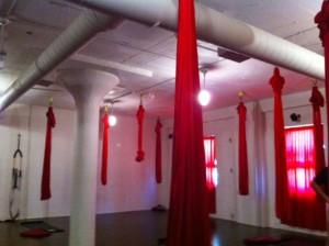 hanging yoga, anti-gravity yoga in Boston, aerial yoga Boston