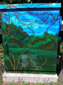 wooded BoxArt, box art Newton, Newton street art, Newton art project,