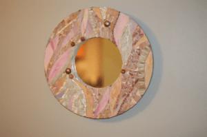 glass mosaic mirrors, custom mosaics, mosaics by ariel, needham