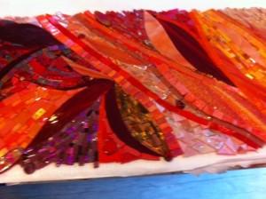 custom glass mosaic backsplash, mosaics by ariel, Needham