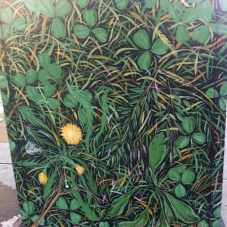 Boston Box Art, street art, clover street art, 4 leaf clover street art