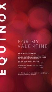 Equinox Offers Relaxing Valentine's Day Packages