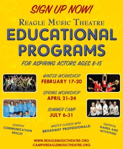 Reagle Music Theatre  2015 Vacation Workshops
