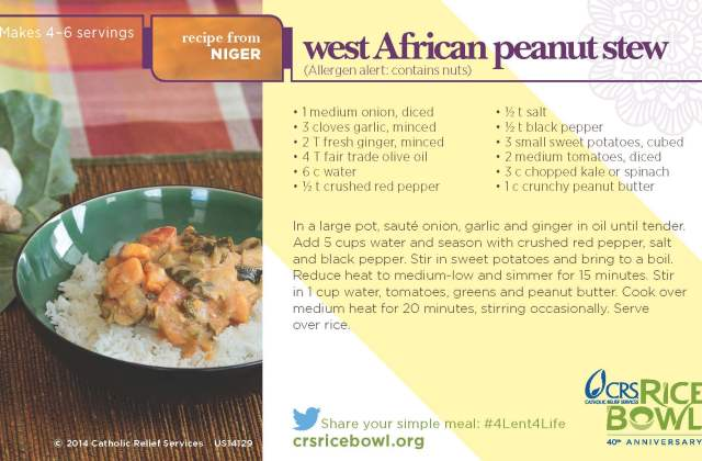 Rice Bowl Recipe From Niger: West African Peanut Stew