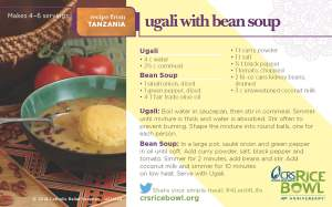 Ugali With Bean Soup