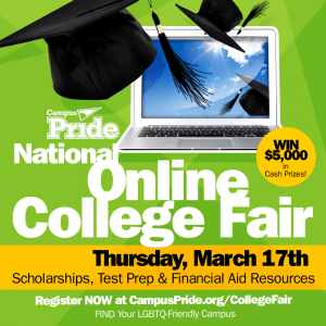 #LGBTQCollege411 National Online College Fair