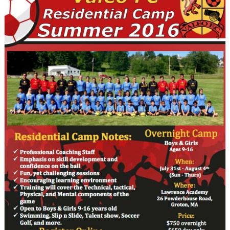 Valeo FC Elite Residential OVERNIGHT Camp